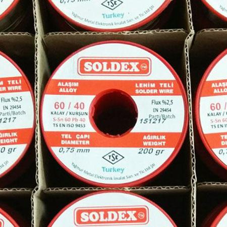 0,75mm 200gr Soldex Lehim Teli 60/40